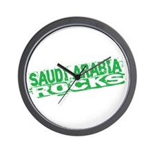 Saudi Arabia Rocks Wall Clock