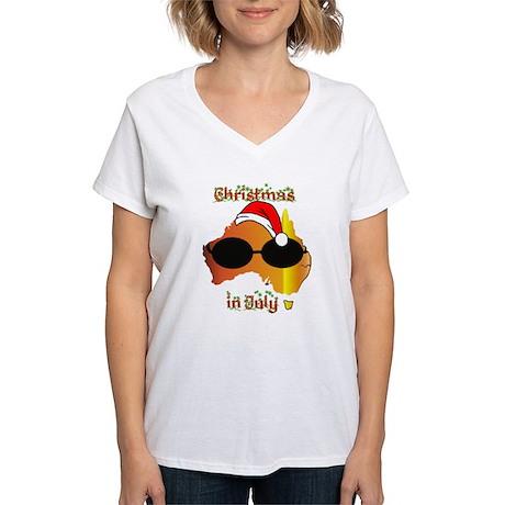 Christmas in July Women's V-Neck T-Shirt