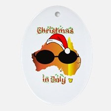 Christmas in July Oval Ornament