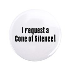 """Cone of Silence Get Smart 3.5"""" Button (100 pack)"""