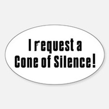 Cone of Silence Get Smart Oval Decal