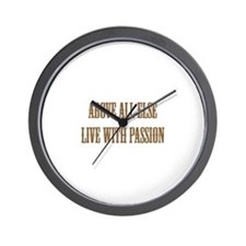 Live with Passion Wall Clock