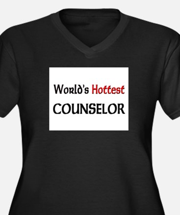 World's Hottest Counselor Women's Plus Size V-Neck