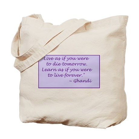 Tote Bag (Ghandi Quote)