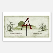 Earthy Asian Appalachian Trail Rectangle Decal