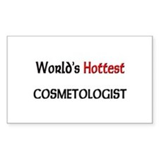 World's Hottest Cosmetologist Rectangle Decal