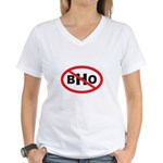 NO BHO Women's V-Neck T-Shirt