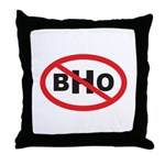 NO BHO Throw Pillow