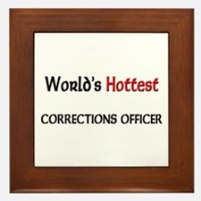 World's Hottest Corrections Officer Framed Tile