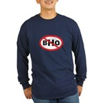 NO BHO Long Sleeve Dark T-Shirt