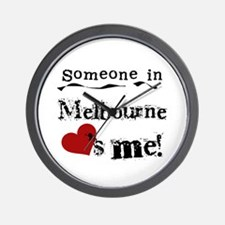 Someone in Melbourne Wall Clock