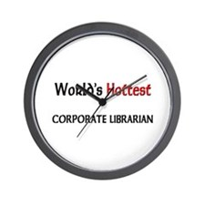 World's Hottest Corporate Librarian Wall Clock