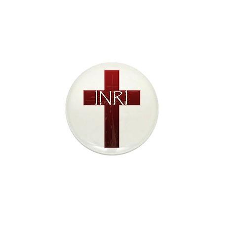 INRI Cross Mini Button