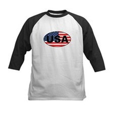 USA Flag in Oval Tee