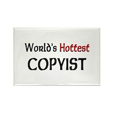 World's Hottest Copyist Rectangle Magnet