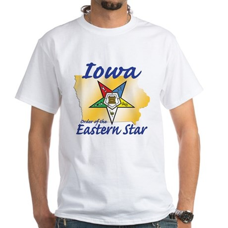 Iowa Eastern Star White T-Shirt