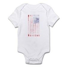 Faded American flag Infant Bodysuit