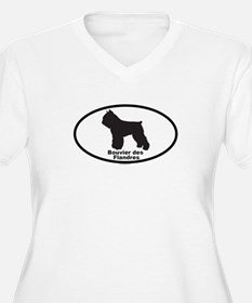 BOUVIER DES FLANDRES Womes Plus-Size V-Neck T-Shir