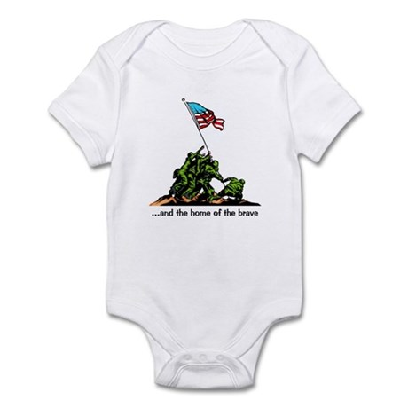 and the home of the brave Infant Bodysuit