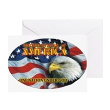 One Nation 2 Greeting Card