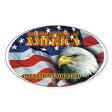 One Nation 2 Oval Decal