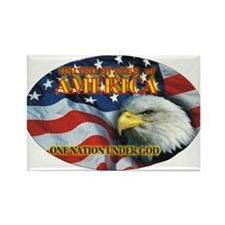 One Nation 2 Rectangle Magnet