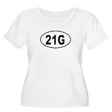 21G Womens Plus-Size Scoop Neck T