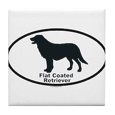 FLATCOATED RETRIEVER Tile Coaster