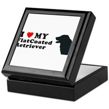 FLATCOATED RETRIEVER Tile Box