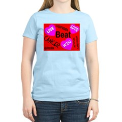 Beat Cancer! Live! Love! Win! Women's Light T-Shir