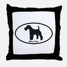 WIRE FOX Throw Pillow