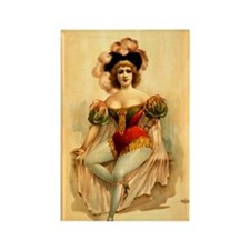 1888 Burlesque Poster Rectangle Magnet
