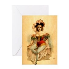 1888 Burlesque Poster Greeting Card