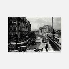 Paris 16e Vintage Photo Rectangle Magnet