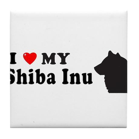SHIBA INU Tile Coaster