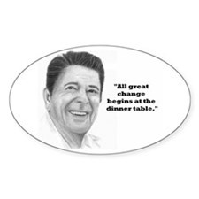 Reagan's Change Oval Decal