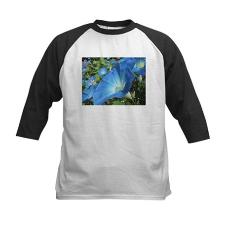 Blue Morning Glory Kids Baseball Jersey