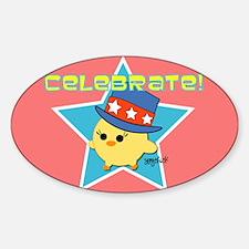 Celebrate American Pride Oval Decal