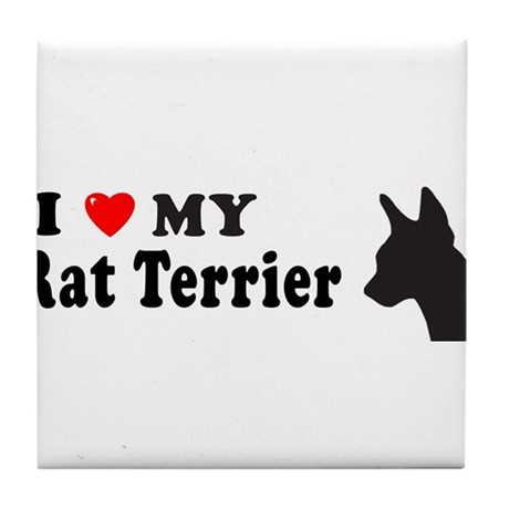 RAT TERRIER Tile Coaster