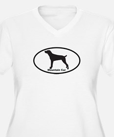 MOUNTAIN CUR Womes Plus-Size V-Neck T-Shirt
