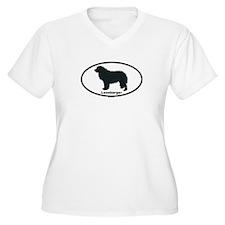 LEONBERGER Womes Plus-Size V-Neck T-Shirt