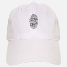 wordle design Baseball Baseball Cap