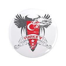 """Turkey Winged 3.5"""" Button"""