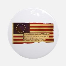 Old Glory Ornament (Round)
