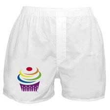 Cupcake Queen / Rainbow Boxer Shorts