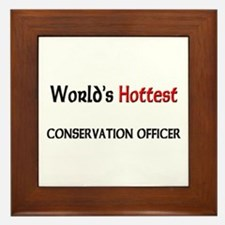 World's Hottest Conservation Officer Framed Tile