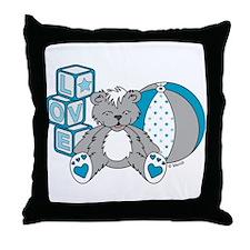 Baby Bear Pink Throw Pillow