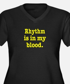 Rhythm Women's Plus Size V-Neck Dark T-Shirt
