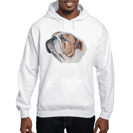 Bulldog Portrait Hooded Sweatshirt