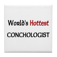 World's Hottest Conchologist Tile Coaster